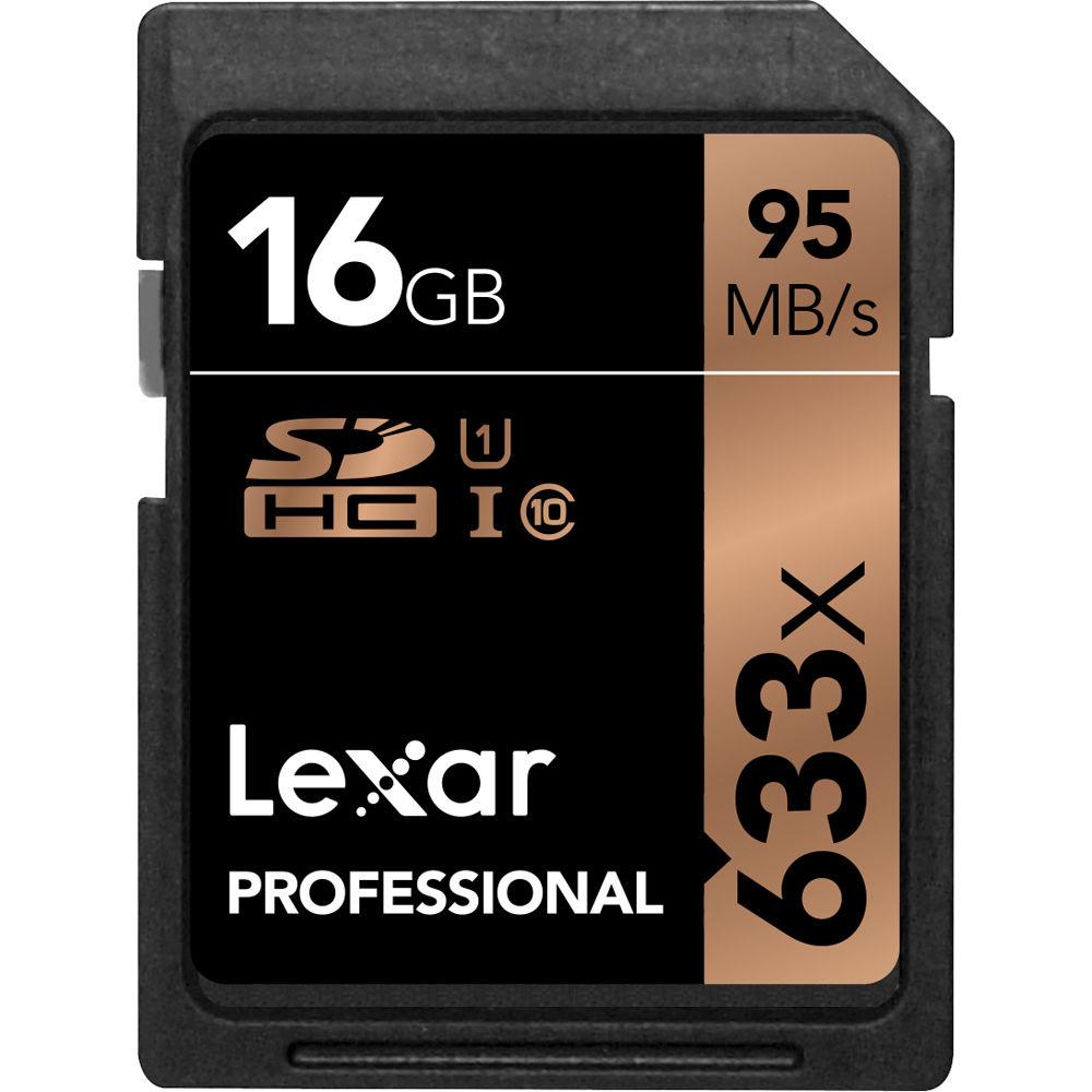 Lexar Professional 633x 16GB SDHC UHS-I/U1 Card