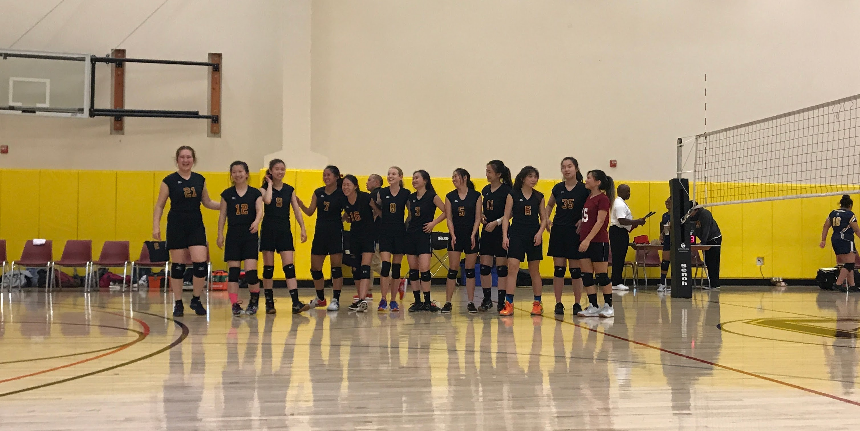 Girls Volleyball Team Win