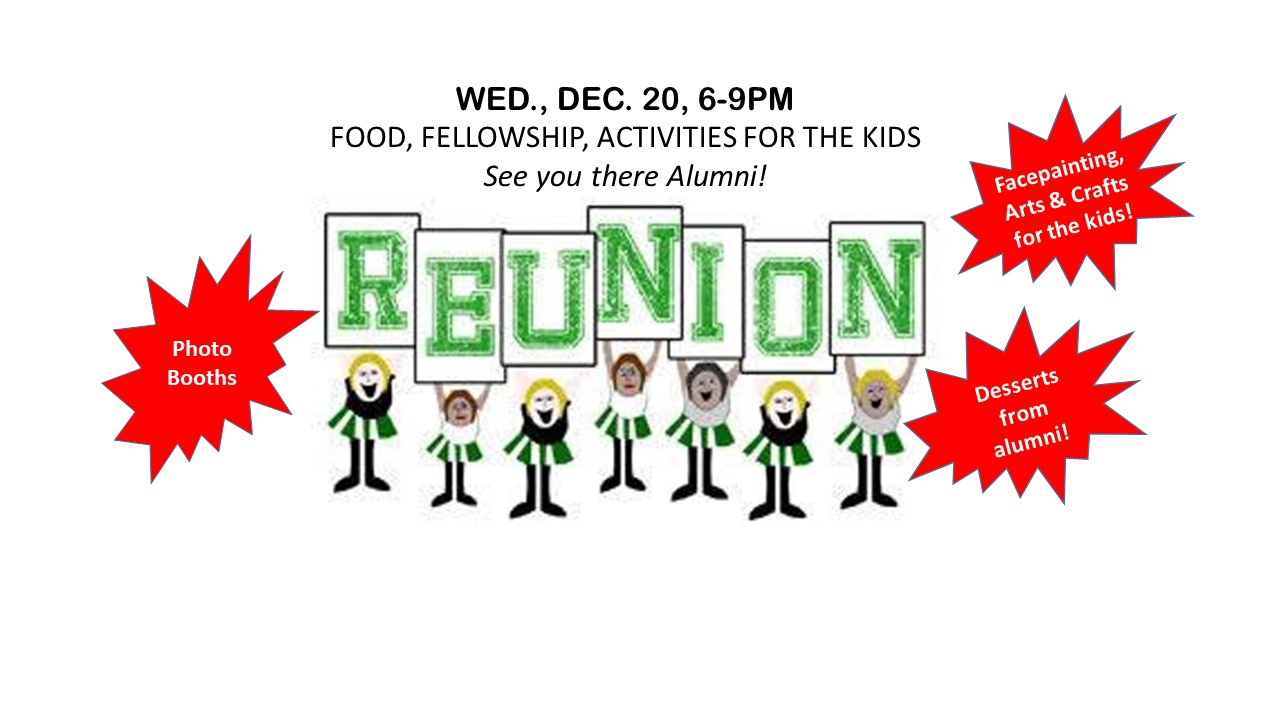 Holiday Alumni Reunion On Dec. 20th!!