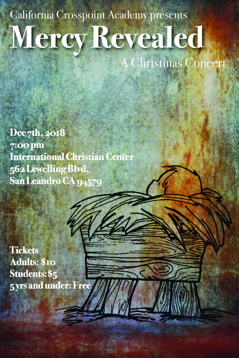 Christmas Concert Is Around The Corner!  Dec. 7th.