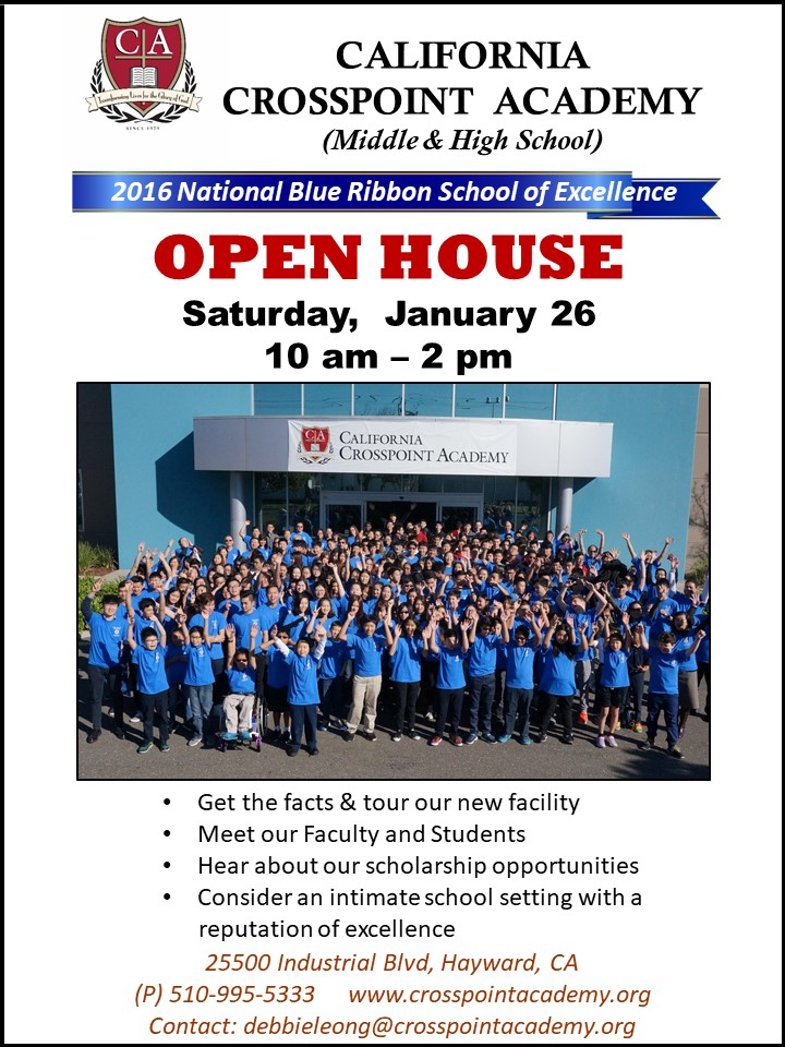 Open House Is Coming On Jan. 26!