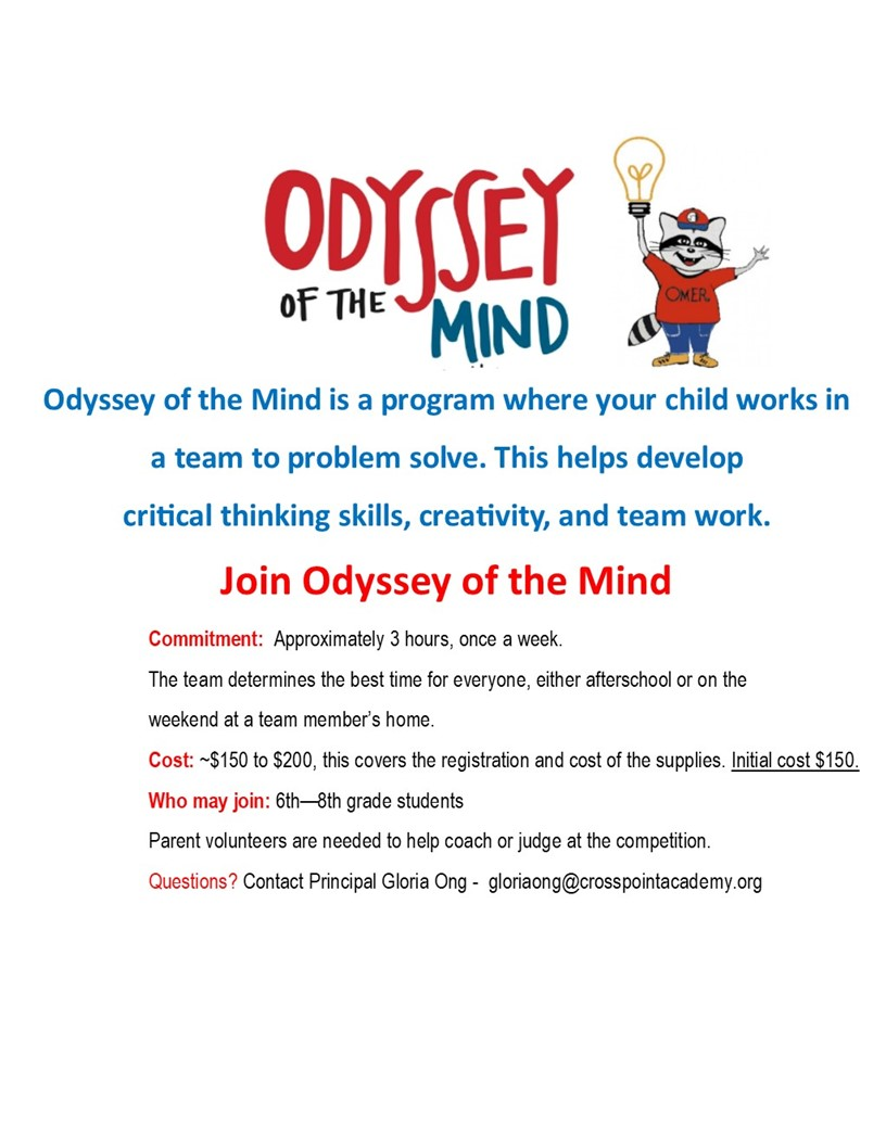 Odyssey Of The Mind – Middle School Goes To The Finals!